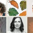 Pince Alkotói Tér: az alkotók portréi és alkotásaik egy részlete látható mozaikszerűen, kerámiacsempe, bőrkulcstartó és egy kísérleti fotó