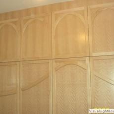 Beépített szekrény, bükk furnéros