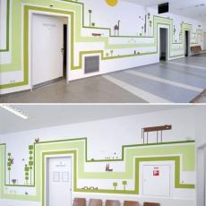 Nagy Diána falai a Révész utcai gyermekrendelőben (Fotó: hg.hu)