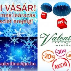 Téli Vásár! Akciós csizmák cipők a legjobb áron a Valentina Cipőboltokban és Webáruházban!