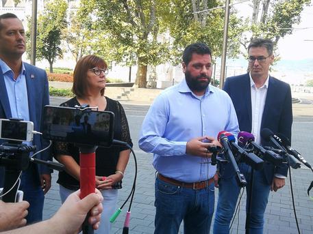 Közös sajtótájékoztató (fotó: Sermer Ádám / Facebook)
